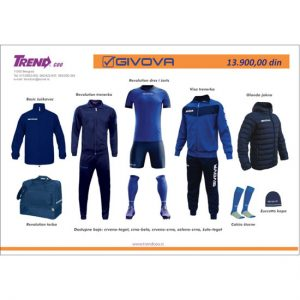 Fudbalski komplet kratak rukav, Givova, Trendcoo Beograd