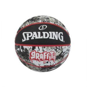 Spalding kosarkaska lopta Graffiti Black/red